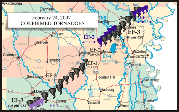 Path of Destruction: A look back on the February 2007 supercell that spawned the Dumas tornado
