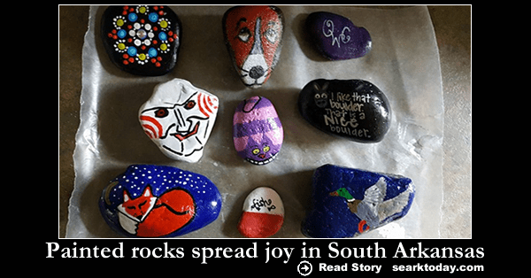 Painted rocks spread joy