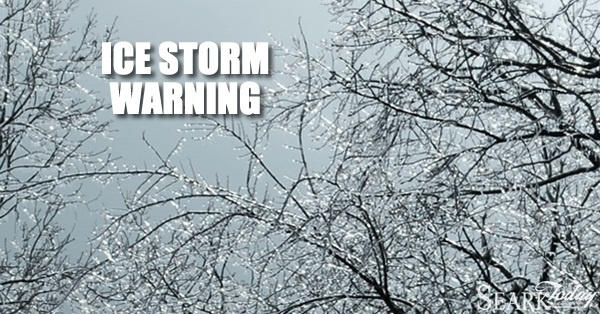 Ice Storm Warning for Southeast Arkansas